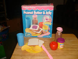 vintage fisher price peanut butter jelly set fun with food play w