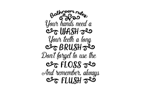 Bathroom wordsearch print & svg. Bathroom Rules Svg Cut File By Creative Fabrica Crafts Creative Fabrica