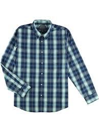 American Rag Mens Jarvis Plaid Button Up Shirt Blue 2xl