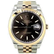 mens rolex watches for rolex datejust 41 steel everose gold chocolate baton dial 126301