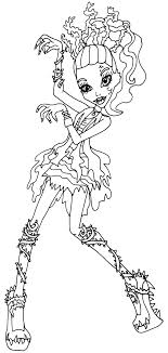 Small Picture Coloring Pages Monster High Pictures To Color Free Printable