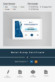 Group Certificate Template Metal Group Certificate Template 69591