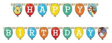 Купить <b>гирлянда Procos</b> Винни-Пух и Пятачок <b>Happy Birthday</b> ...
