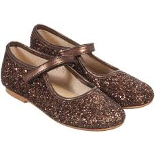 manuela de juan girls bronze glitter leather shoes childrensalon