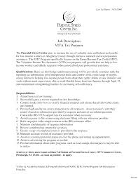 Tax Preparer Resume Bullet Points Erisa Attorney Cover Letter Vak