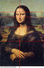 a photo of the mona lisa painting looking at its balance one of the elements