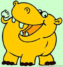 Small Picture Hippo Coloring Page 05 Coloring Page Free Hippopotamus Coloring