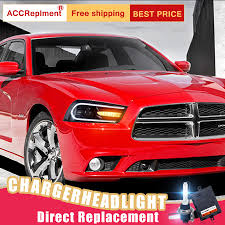 Dodge Charger Lights Us 652 05 19 Off 2pcs Led Headlights For Dodge Charger 2011 2014 Led Car Lights Angel Eyes Xenon Hid Kit Fog Lights Led Daytime Running Lights In