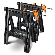 wood clamps lowes. astonishing 32 inch black clamping sawhorses lowes 2 pack for best table stand in polyresin material wood clamps 7