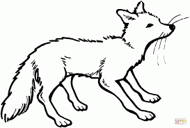 Small Picture Fox 5 For Coloring Page Animal Free Download Red Fox Coloring