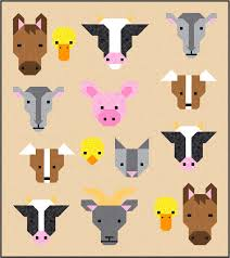 Farm Friends Quilt Pattern, PDF, Instant Download, farm animal ... & This is a digital file Adamdwight.com