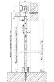 technical details sliding system for glass doors