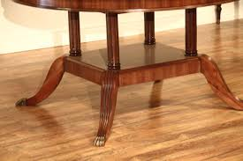 traditional dining table round duncan phyfe pedestal table