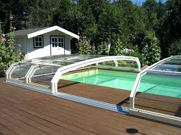 retractable swimming pool cover pool enclosure remote automatic