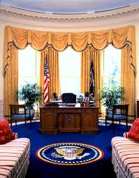 oval office design. Fine Design The Oval Office During The Administration Of Bill Clinton Courtesy  White House Historical Intended Design