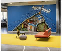 office wall murals. Facebook Office Wall Mural Murals