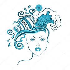 фото татуировка водолей знак зодиака водолей векторное