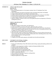 Childcare Resume Child Care Specialist Resume Samples Velvet Jobs 71