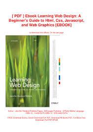 Free Web Design Books Pdf Pdf Ebook Learning Web Design A Beginners Guide To Html
