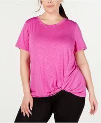 Id Ideology Size Chart Plus Size Knot Front T Shirt Created For Macys