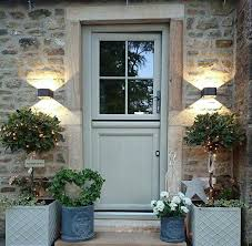country front doorsFront Door in Farrow and Ball Pigeon  Country Style Interiors