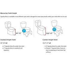 comfort height toilet dimensions. anti constipation squat toilet stool squatty potty 7\ comfort height dimensions n