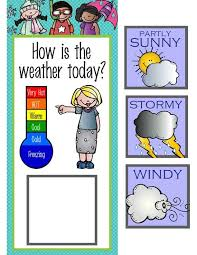 The Brainy Bunch Classroom Weather Chart School Stuff