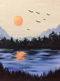 simple and easy landscape painting ideas 34