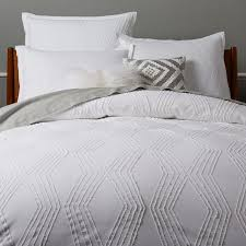 cool bedroom decoration enchanting celeste white duvet covers and pillow shams crate barrel of queen