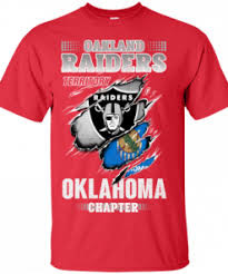 Oakland Raiders Territory Oklahoma Chapter G200 Gildan Ultra Cotton T Shirt