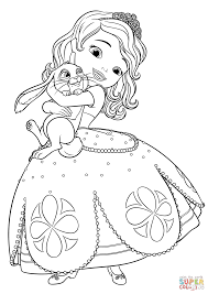 Small Picture Sofia And Clover Image Gallery Website Princess Sofia Coloring