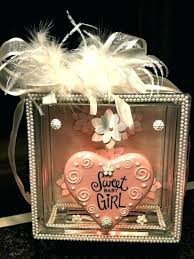 glass block decorating ideas sweet baby girl lighted glass block made for a friend baby on glass block decorating