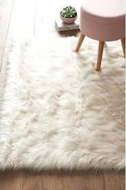luxury faux sheepskin rug fur baby pink