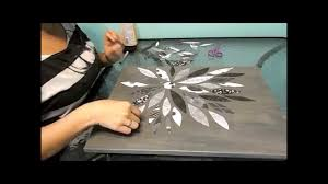 on wall art diy youtube with flower canvas scrapbook paper diy youtube
