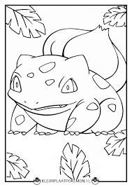 Bulbasaur Kleurplaten Gratis Printen Kleurplaat Pokémon