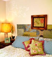 Cover Headboard With Fabric Glamorous Quilted Headboardin Bedroom Eclectic With Appealing