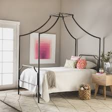 Bailey Twin Size Metal Canopy Bed Free Shipping Today