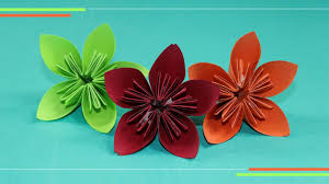 Make Flower With Paper Origami Kusudam Flower How To Make Paper Flowers Easy For