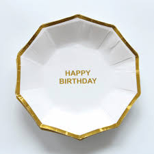 <b>10 pcs</b>/lot Paper <b>Plates</b> Cups <b>Blue</b> Gold Happy <b>Birthday Party</b> ...