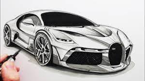 Bugatti coupe by serkan budur @serkan_budur #cardesign #car #design #carsketch #sketch #bugatti #hypercar #luxurycar #bugatticlub. How To Draw A Sports Car The Bugatti Divo Youtube