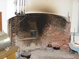 photograph of a typical colonial fireplace used for cooking