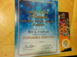 Honorable Mention Certificate New Design For Writers Of The Future Honorable Mention