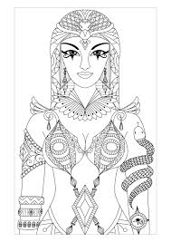 Free Coloring Page Coloring Adult Egypt
