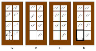 installtion sequence for installing a pet door into french pane doors