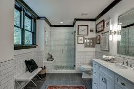 traditional craftsman bathroom with subway tile craftsman style bathroom fixtures craftsman bathroom tile