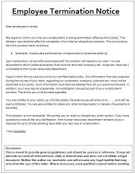 Job Termination Notice Template | Sampleformats.org | Pinterest ...