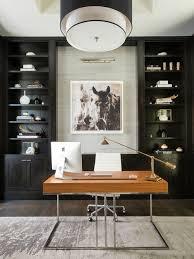 contemporary office interior design ideas. example of a trendy freestanding desk dark wood floor study room design in dallas contemporary office interior ideas