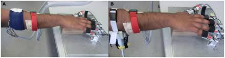 Experimental setup comprising HMIs on the forearm and the finger ...