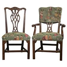 Chippendale Furniture Set Of Eight Chippendale Dining Chairs By Baker At 1stdibs