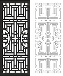 Door Vector Design Carved Wood Partition Design Vector Free Vector Cdr Download